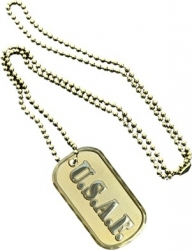 View Buying Options For The US Air Force 4-Letter Metal Embossed Dog Tag