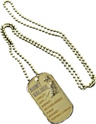 View Buying Options For The US Army Values Metal Embossed Dog Tag