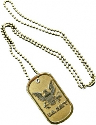 View Buying Options For The US Navy Eagle Symbol Metal Embossed Dog Tag