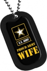 View Buying Options For The Proud US Army Wife Dog Tag with Silencer