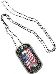 View Buying Options For The America Honors Its Fallen Heroes Metal Embossed Dog Tag