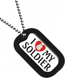 View Buying Options For The I Love My Soldier Dog Tag with Silencer