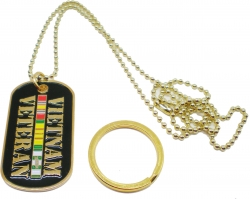 View Buying Options For The Vietnam Veteran Metal Embossed Dog Tag Key Chain Combo