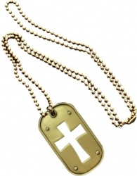 View Buying Options For The Cross Cutout Metal Dog Tag