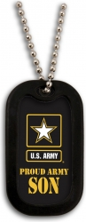 View Buying Options For The Proud US Army Son Dog Tag with Silencer