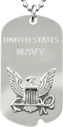View Buying Options For The United States Navy Eagle Symbol Metal Embossed Dog Tag