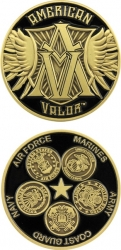 View Buying Options For The American Valor 5 Branch Challenge Coin