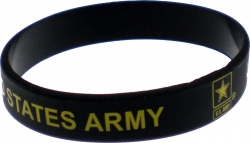 View Buying Options For The United States Army Star Silicone Rubber Wristband [Pre-Pack]