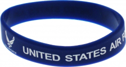 View Buying Options For The United States Air Force Silicone Rubber Wristband Bracelet [Pre-Pack]