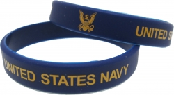View Buying Options For The United States Navy Silicone Rubber Wristband Bracelet [Pre-Pack]