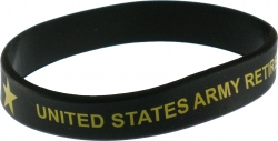 View Buying Options For The United States Army Retired Silicone Rubber Wristband [Pre-Pack]