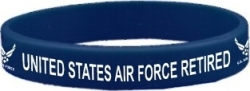 View Buying Options For The United States Air Force Retired Letters Silicone Rubber Wristband Bracelet [Pre-Pack]