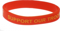 View Buying Options For The Support Our Troops Silicone Rubber Wristband Bracelet [Pre-Pack]
