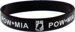 View Buying Options For The POW MIA Letters Silicone Rubber Wristband Bracelet [Pre-Pack]