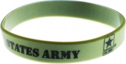View Buying Options For The United States Army Star Silicone Rubber Wristband Bracelet [Pre-Pack]