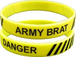 View Buying Options For The Danger Army Brat Silicone Rubber Wristband [Pre-Pack]