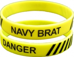View Buying Options For The Danger Navy Brat Silicone Rubber Wristband Bracelet [Pre-Pack]