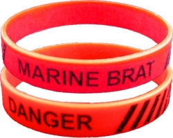 View Buying Options For The Danger Marine Brat Silicone Rubber Wristband Bracelet [Pre-Pack]