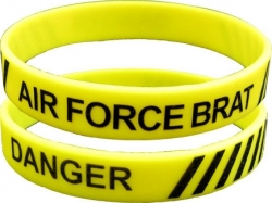 View Buying Options For The Danger Air Force Brat Silicone Rubber Wristband [Pre-Pack]
