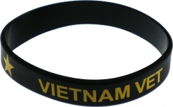 View Buying Options For The Vietnam Veteran Star Silicone Rubber Wristband Bracelet [Pre-Pack]