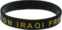 View Buying Options For The Operation Iraqi Freedom Veteran Silicone Rubber Wristband Bracelet [Pre-Pack]