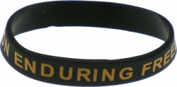 View Buying Options For The Operation Enduring Freedom Veteran Silicone Rubber Wristband Bracelet [Pre-Pack]
