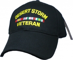 View Buying Options For The Desert Storm Veteran with 3 Ribbons Mens Cap