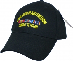 View Buying Options For The Operation Iraqi Freedom Combat Veteran Emblem Mens Cap