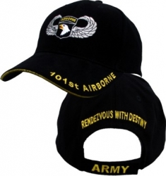 View Buying Options For The 101st Airborne Division Jump Wings Brushed Cotton Mens Cap