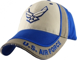 View Buying Options For The US Air Force Tri-Color 3D Emblem Mens Cap