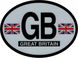 View Buying Options For The Great Britain Flag 2-Letter Oval Reflective Decal [Pre-Pack]