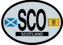 View Buying Options For The Scotland Flags Oval Reflective Decal [Pre-Pack]