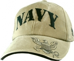 View Buying Options For The US Navy Tonal Emblem On Bill Mens Cap