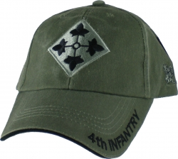 View Buying Options For The 4th Infantry Division Tonal Color Insignia Mens Cap