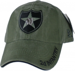 View Buying Options For The 2nd Infantry Division Tonal Color Insignia Mens Cap
