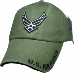 View Buying Options For The U.S. Air Force Wings Logo Washed Mens Cap