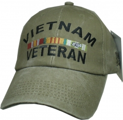 View Buying Options For The Vietnam Veteran Ribbons Tonal Washed Mens Cap