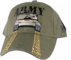 View Buying Options For The Army with Tank Track Treads On Bill Mens Cap