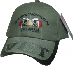 View Buying Options For The Operation Iraqi Freedom Veteran Ribbons Vet On Bill Mens Cap