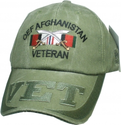 View Buying Options For The OEF Afghanistan Veteran Ribbons Vet On Bill Mens Cap