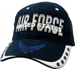 View Buying Options For The United States Air Force Emblem 5 Star Mens Cap