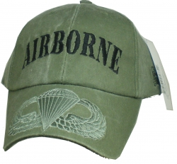 View Buying Options For The Airborne Tonal Color Insignia On Bill Washed Mens Cap