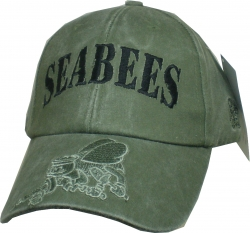 View Buying Options For The Seabees Tonal Color Insignia On Bill Mens Cap