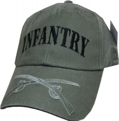 View Buying Options For The Infantry Tonal Color Insignia On Bill Mens Cap