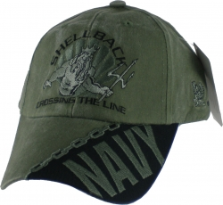 View Buying Options For The Navy Shellback Crossing The Line Tonal Washed Mens Cap