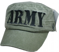 View Buying Options For The Army Text Tonal Washed Mens Flat Top Cadet Cap