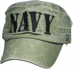 View Buying Options For The Navy 4-Letter Mens Flat Top Cadet Cap