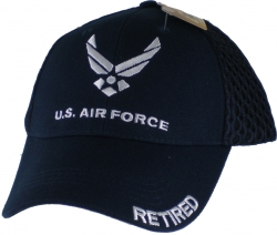 View Buying Options For The US Air Force Retired Emblem Mens Air Meshback Cap