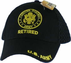 View Buying Options For The U.S. Army Retired Emblem Mens Air Meshback Cap