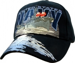 View Buying Options For The United States Navy with Destroyers Emblem Mens Cap